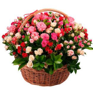 Корзина с цветами «Агата»