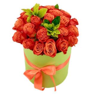 Цветы в коробке «Аметист»
