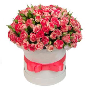 Цветы в коробке «Рубиновый сад»