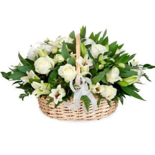 Цветы в корзинке «Ангел»
