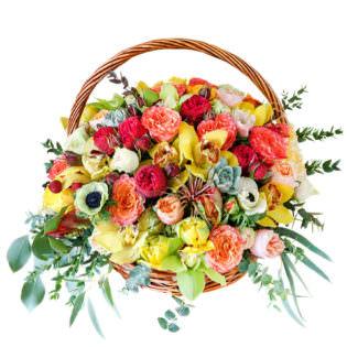 Цветы в корзинке «Фантазия»